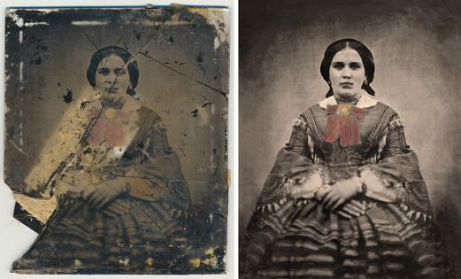 Restoration from Glass Print