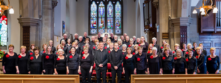 Advertising shoot for St George's Singers