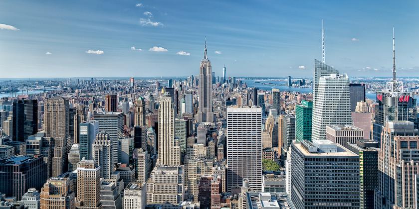 New York Skyline by RJ Photo
