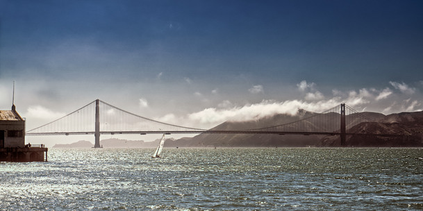 Golden Gate Bridge in the Sun