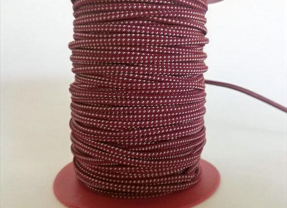 2.0mm Kırmızı Beyaz Örgülü Lastik (20mt)