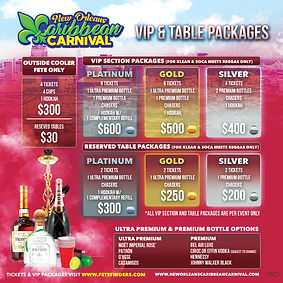 New Orleans Caribbean Carnival VIP Packages