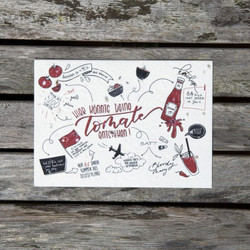 """Postkarte """"Tomate"""""""