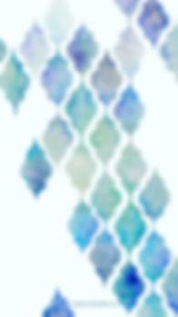 Smartphonewallpaper Marokkanisches Muster, Aquarell