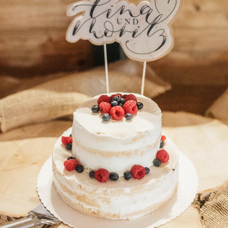 Caketopper mit Hochzeitslogo