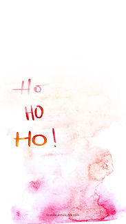 Smartphone-Wallpaper Aquarell-Lettering HoHoHo