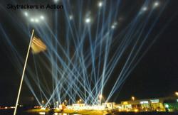 Skytracker Laser Lights at Night