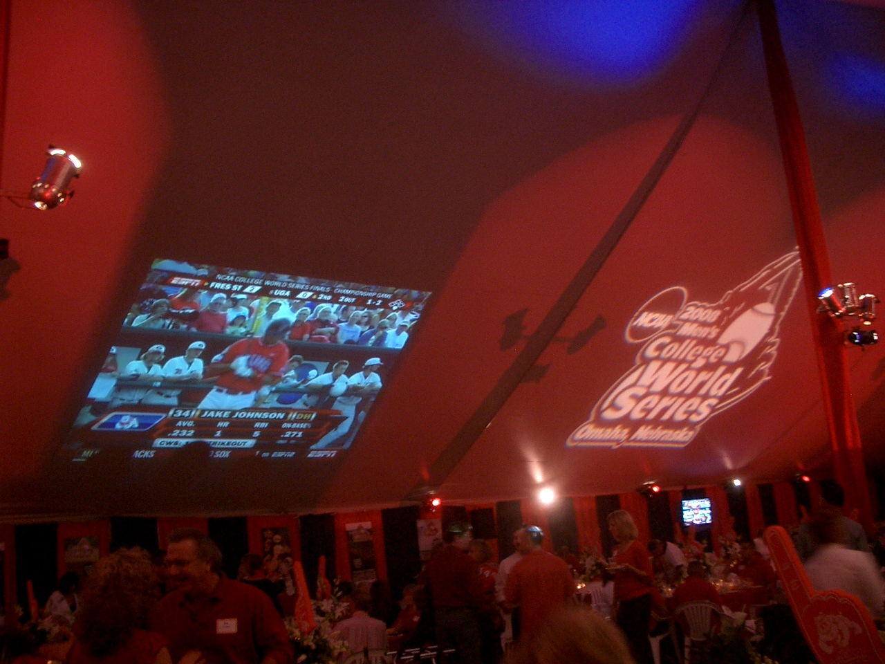 Fresno State Game on Tent 2
