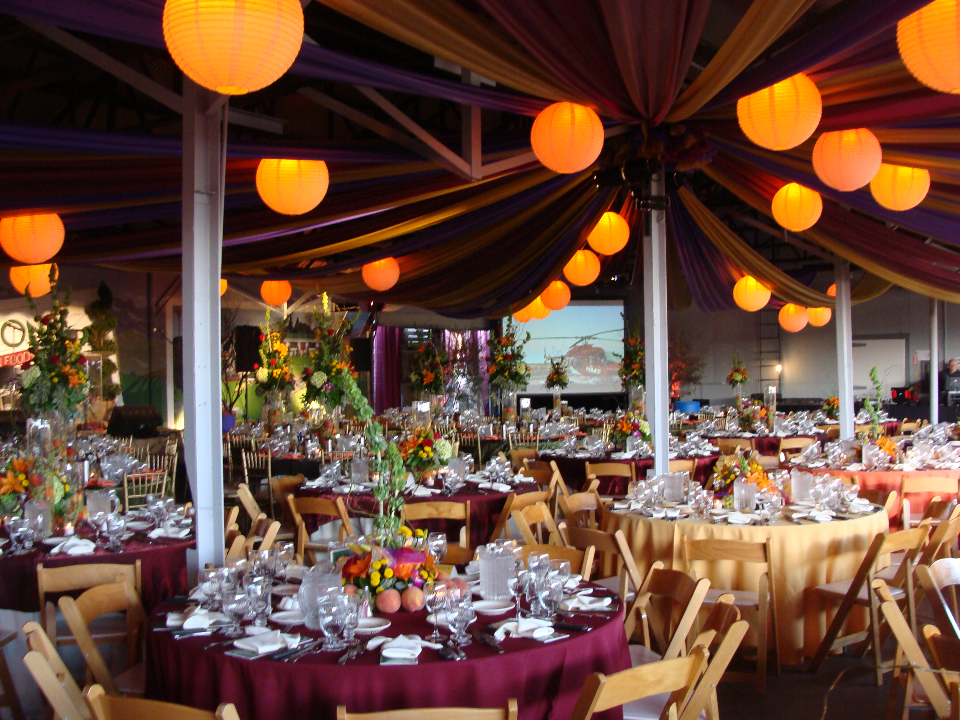 VC Harvest Ball Lanterns & Draping