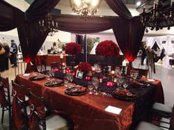 Premiere Bridal Tablescape w_ chandelier