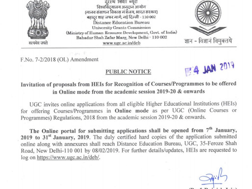 Online Degrees In India - now legally approved!