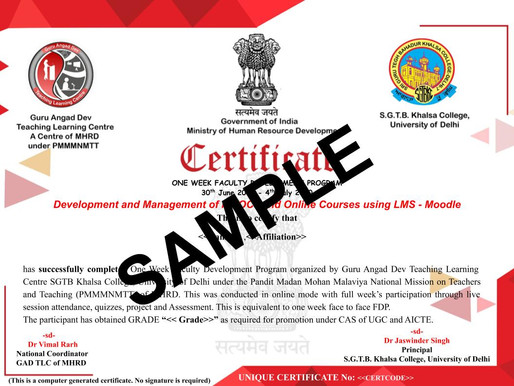 New Certification On Millionlights - GAD-TLC, Ministry of Education