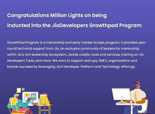 Millionlights on the Jio Growthpad Program.