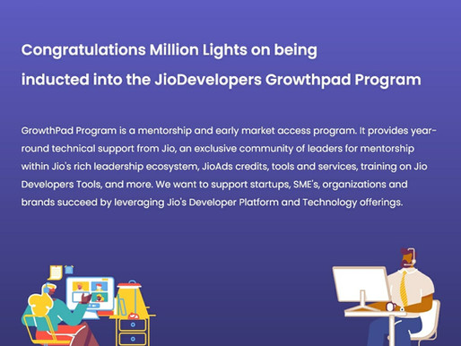 Millionlights on the Jio Growthpad Program.