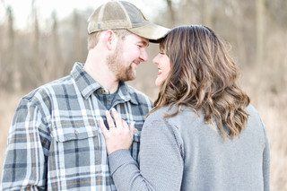 Keith & Sam, Winter Engagement in Long Grove