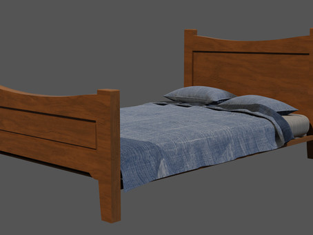 Wooden Bed - 3D Model
