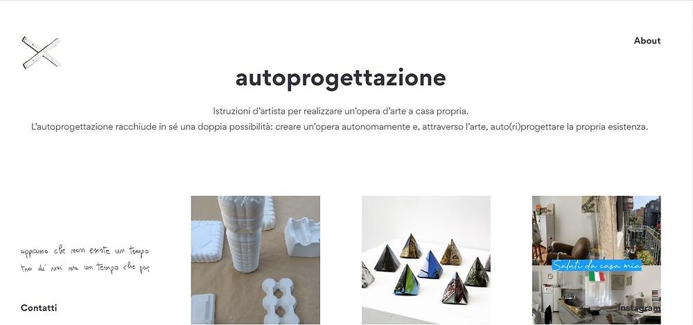 """Sitio web """"Autoprogettazione"""", proyecto de artistas y curadores para llevar el arte en las casas de las personas"""