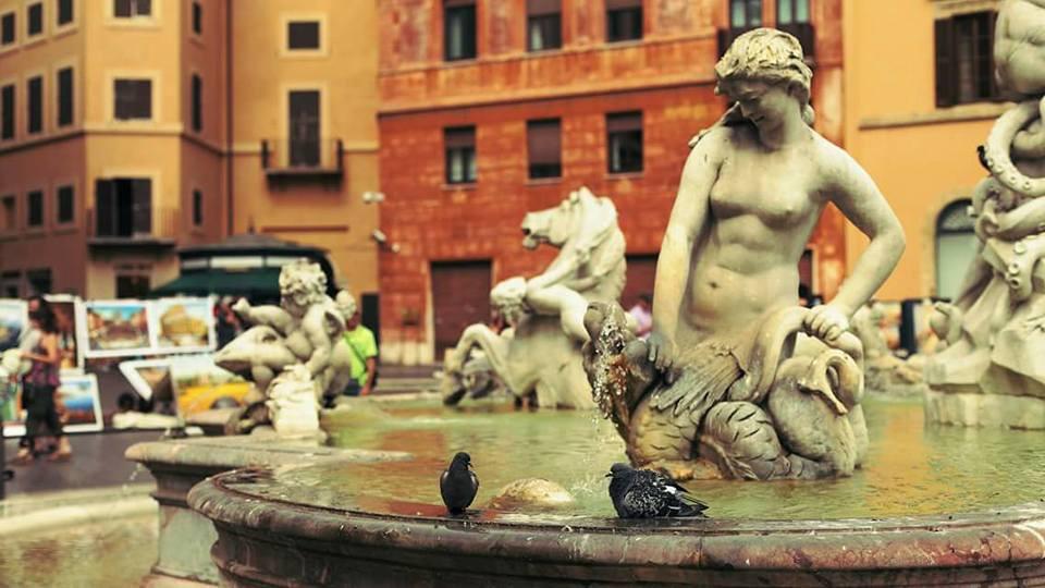 Fuente del Neptuno en Roma. Sensi in Viaggio está en Italia, en Latina.