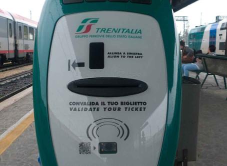 La validación de boletos en Italia: la multa en los trenes puede ser cara