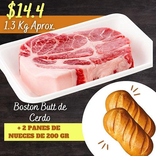 Boston Butt  | 1.3 Kg.  + 2 Panes de Nueces | 200 Gr.