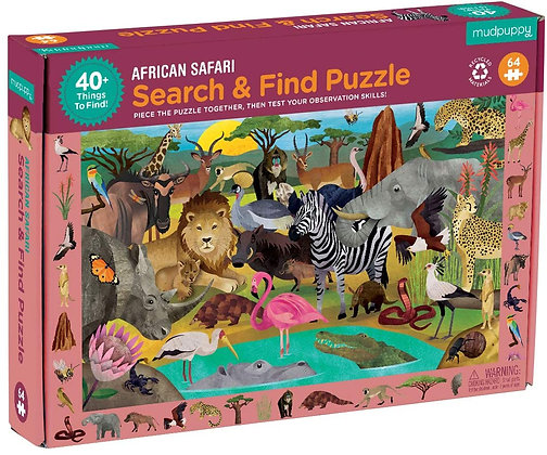 African Safari Search and Find Puzzle
