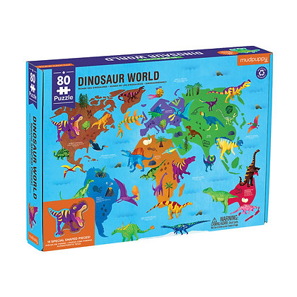 Dinosaur World Geography Puzzle