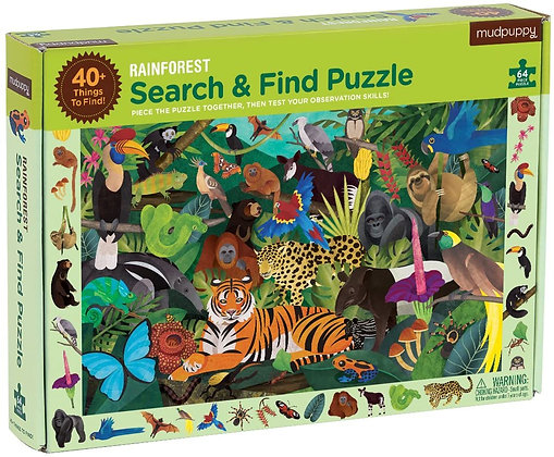 Mudpuppy Rainforest Search & Find Puzzle