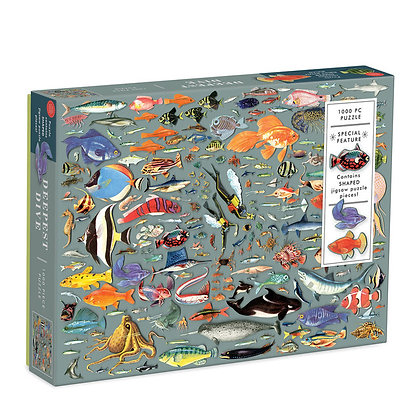 Deepest Dive 1000 Piece Puzzle (with shaped pieces)