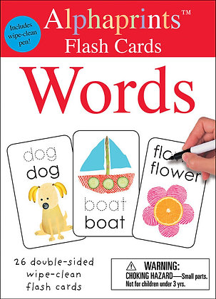 Alphaprints: Wipe Clean Flash Cards - Words