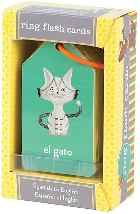 Mudpuppy Illustrated Spanish to English Flash Cards
