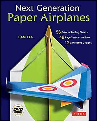 Next Generation Paper Airplanes Kit (Book, 32 origami papers & DVD incl.)