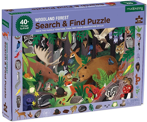 Mudpuppy Woodland Forest Search and Find Puzzle