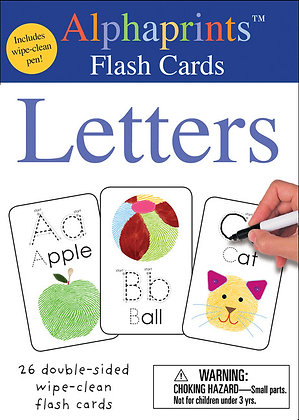 Alphaprints: Wipe Clean Flash Cards - Letters