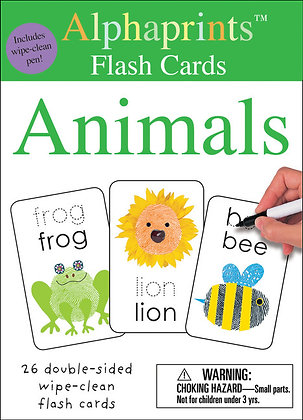 Alphaprints: Wipe Clean Flash Cards - Animals
