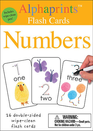 Alphaprints: Wipe Clean Flash Cards - Numbers