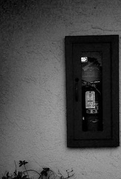 unopened fire extinguisher