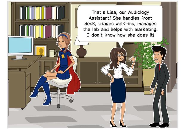 Audiology Assistant triages walk-ins