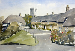 'Godshill Village'  Isle-of-Wight