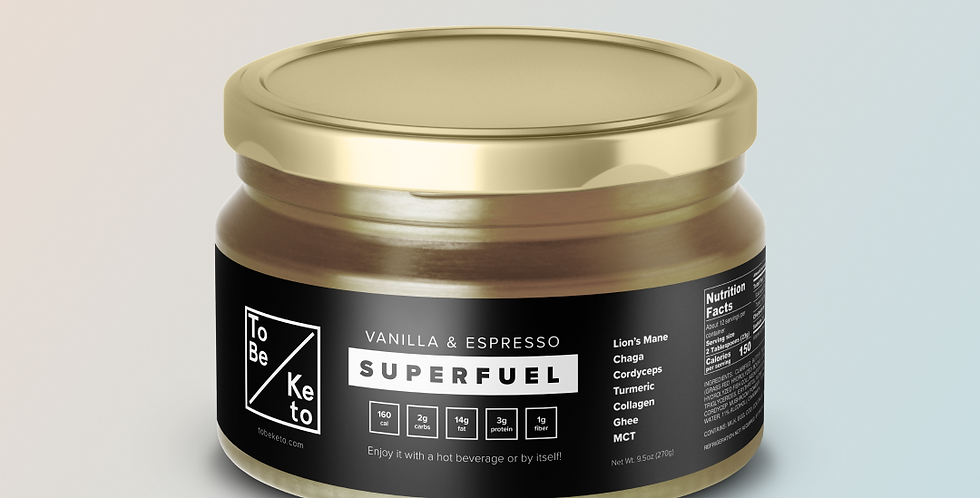 Vanilla & Espresso SuperFuel Jar