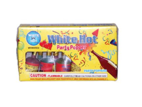 Champagne Party Poppers 12 Pack