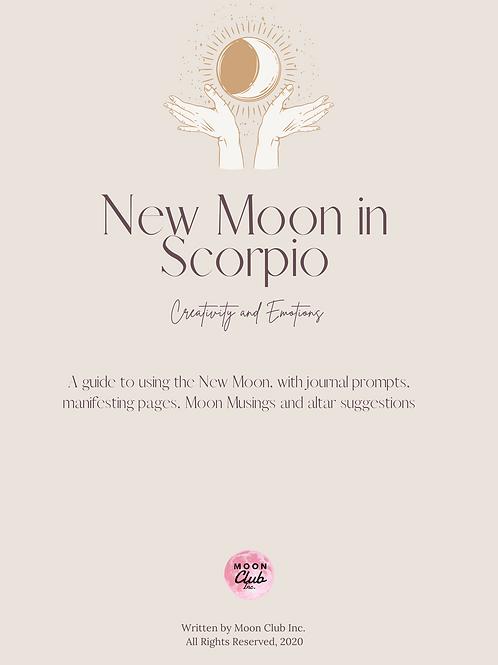 New Moon in Scorpio Workbook