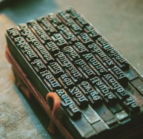 Typographie, impression sur de nombreux supports