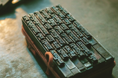Letterpress Workshop - May 11, 2021