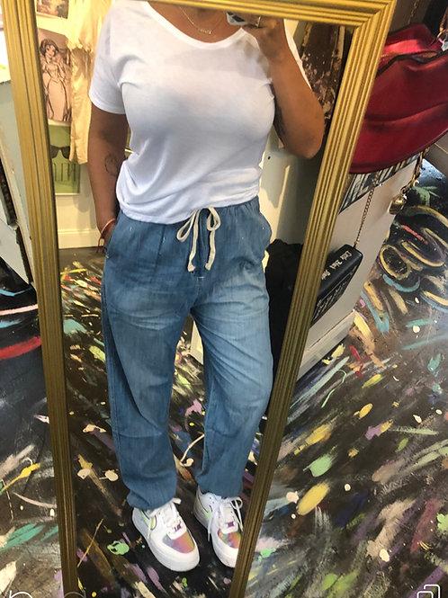 Drawstring jeans