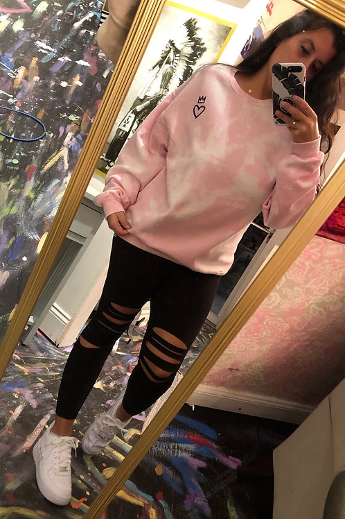 Cotton Candy heart pullover