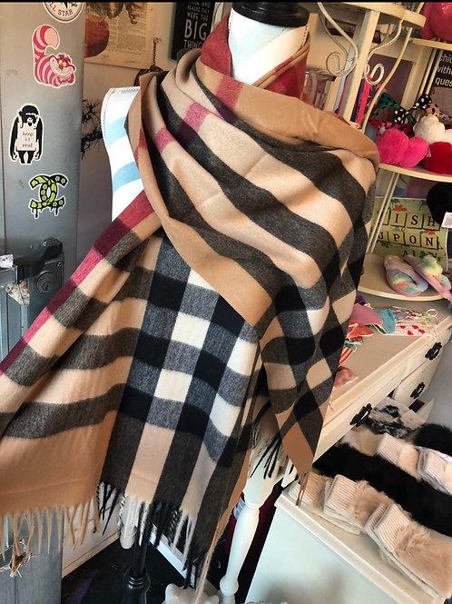 Plaid scarf/shawl (two colors)