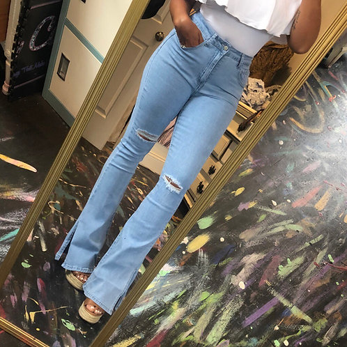 Stretch bell jeans