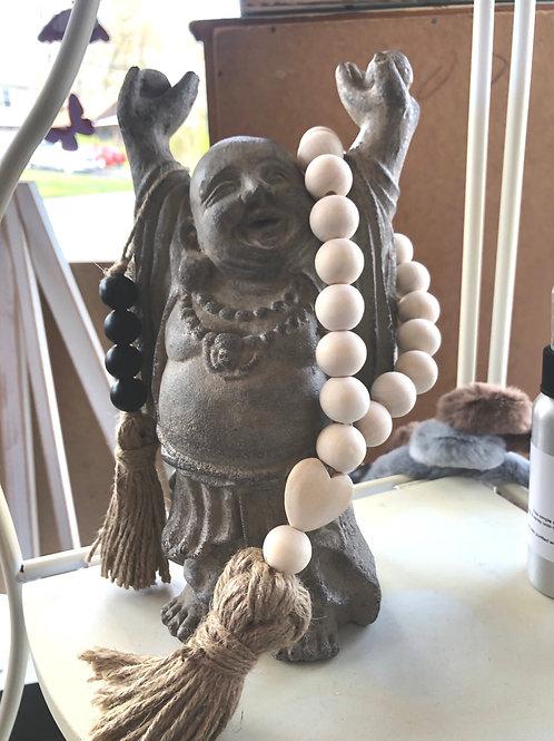 Wooden bead tassel