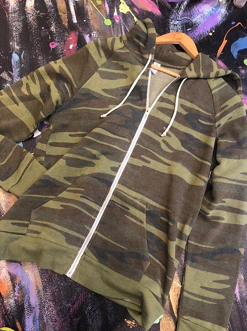 Zip up Camo hoodie