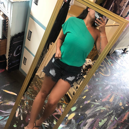 Kelly green shoulder top